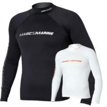 Magic Marine Cube Rash Vest Long Sleeve Black