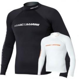 Magic Marine Cube Rash Vest Long Sleeve Black