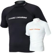 Magic Marine Cube Rash Vest Short Sleeve White