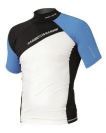Magic Marine Energy Rash Vest Short Sleeve Blue